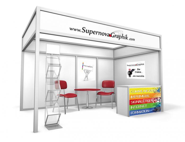 Supernova graphik r alise votre publicit pour salon for Conception stand de foire
